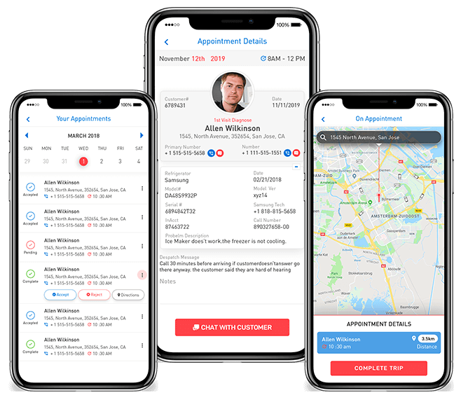 Service maintenance ios app