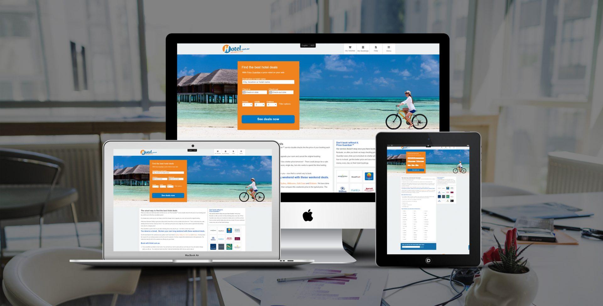 Hotel booking web development