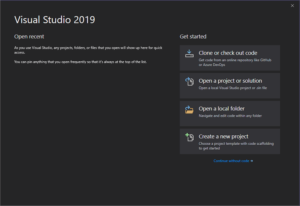 Cloud first workflow visual studio 2019 new features